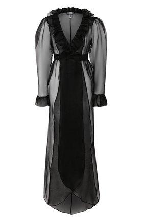 4782067bf5fedf9 Женский черный шелковый халат JANE WOOLRICH — купить за 84380 руб. в ...