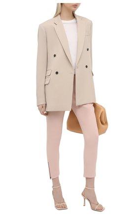 Женские брюки STELLA MCCARTNEY розового цвета, арт. 358300/SCA06 | Фото 2 (Материал внешний: Синтетический материал, Вискоза; Статус проверки: Проверено, Проверена категория; Женское Кросс-КТ: Брюки-одежда; Длина (брюки, джинсы): Укороченные)