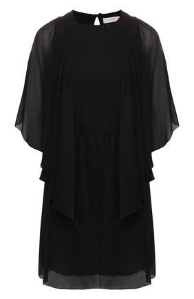 Платье с поясом на кулиске | Фото №1