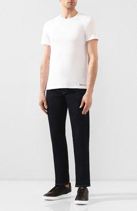 Мужская хлопковая футболка RALPH LAUREN белого цвета, арт. 790508153 | Фото 2