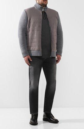 Мужские джинсы прямого кроя ANDREA CAMPAGNA серого цвета, арт. ACCR843333   Фото 2