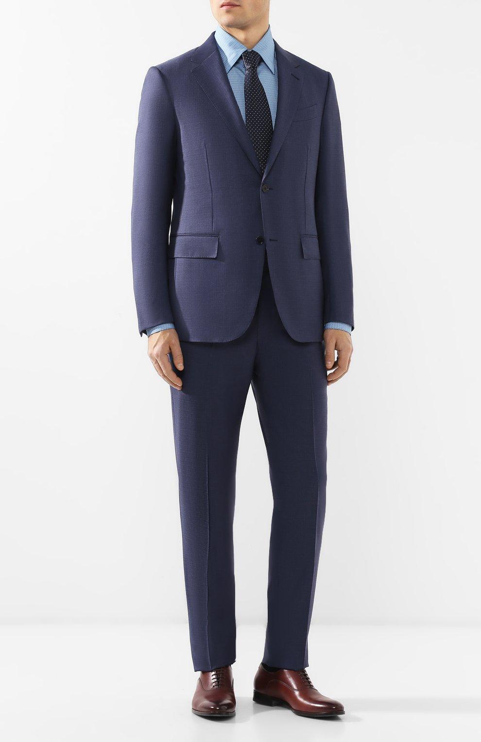 Мужской шерстяной костюм ERMENEGILDO ZEGNA синего цвета, арт. 522034/25M22Y | Фото 1