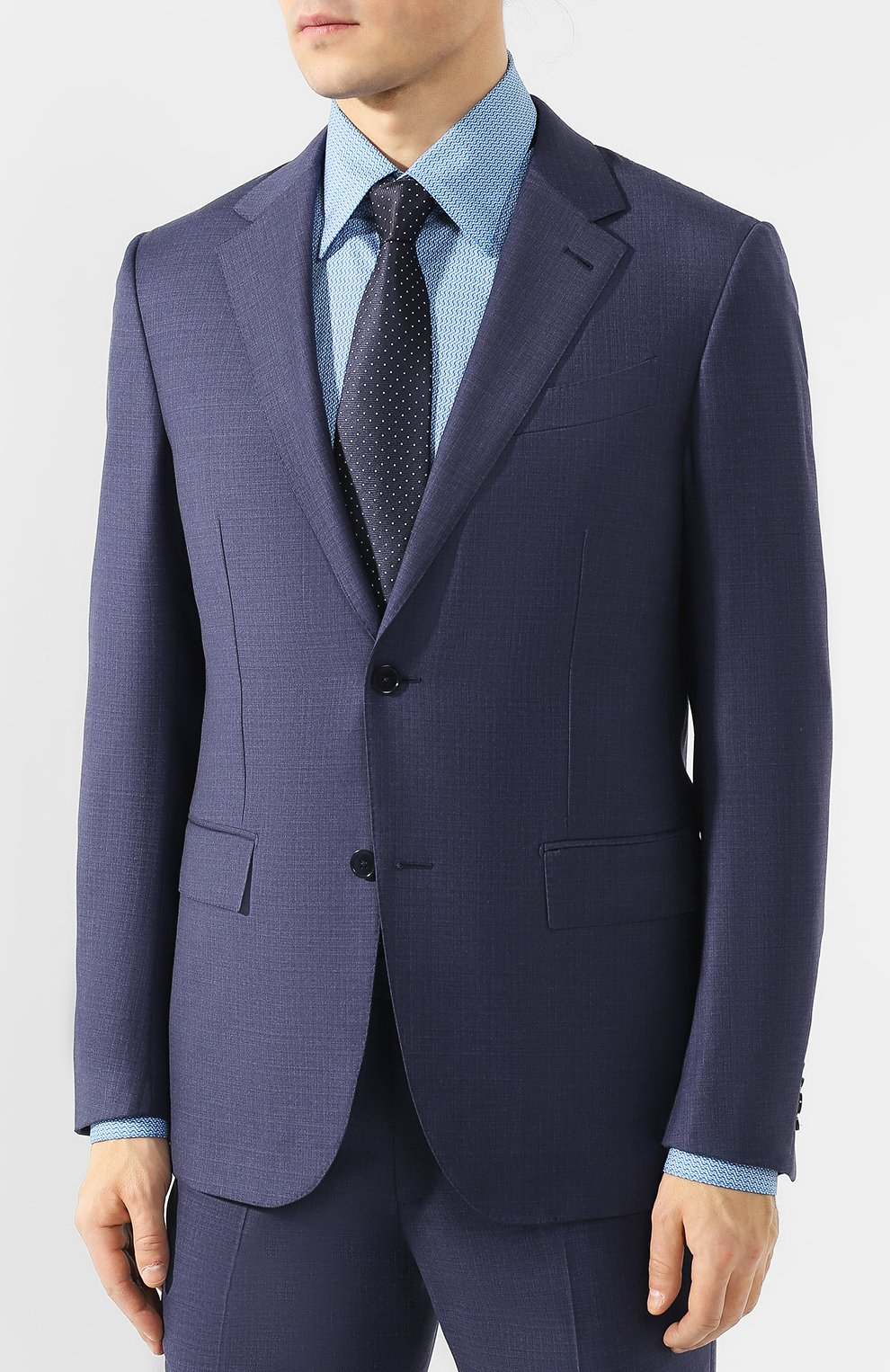 Мужской шерстяной костюм ERMENEGILDO ZEGNA синего цвета, арт. 522034/25M22Y | Фото 2