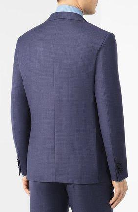 Мужской шерстяной костюм ERMENEGILDO ZEGNA синего цвета, арт. 522034/25M22Y | Фото 3
