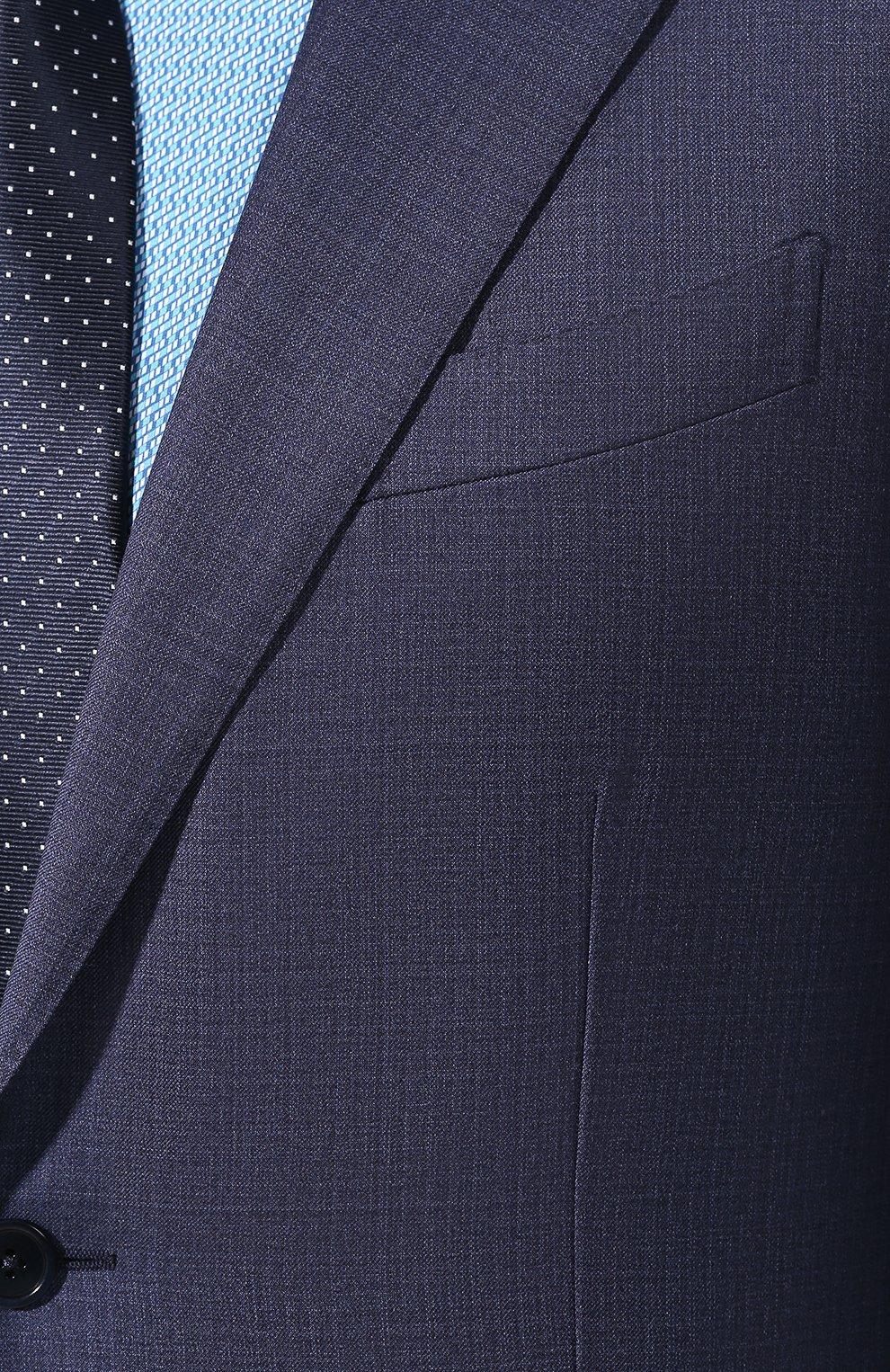 Мужской шерстяной костюм ERMENEGILDO ZEGNA синего цвета, арт. 522034/25M22Y | Фото 4