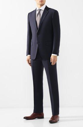 Мужской шерстяной костюм ERMENEGILDO ZEGNA темно-синего цвета, арт. 522623/221225 | Фото 1