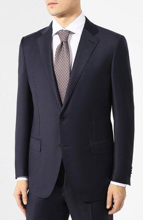 Мужской шерстяной костюм ERMENEGILDO ZEGNA темно-синего цвета, арт. 522623/221225 | Фото 2