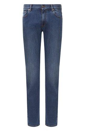 Мужские джинсы прямого кроя ERMENEGILDO ZEGNA синего цвета, арт. USI78/JS01 | Фото 1