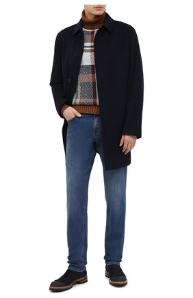 Мужские джинсы прямого кроя ERMENEGILDO ZEGNA синего цвета, арт. USI78/JS01 | Фото 2