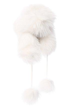 Шапка-ушанка из меха лисы | Фото №1