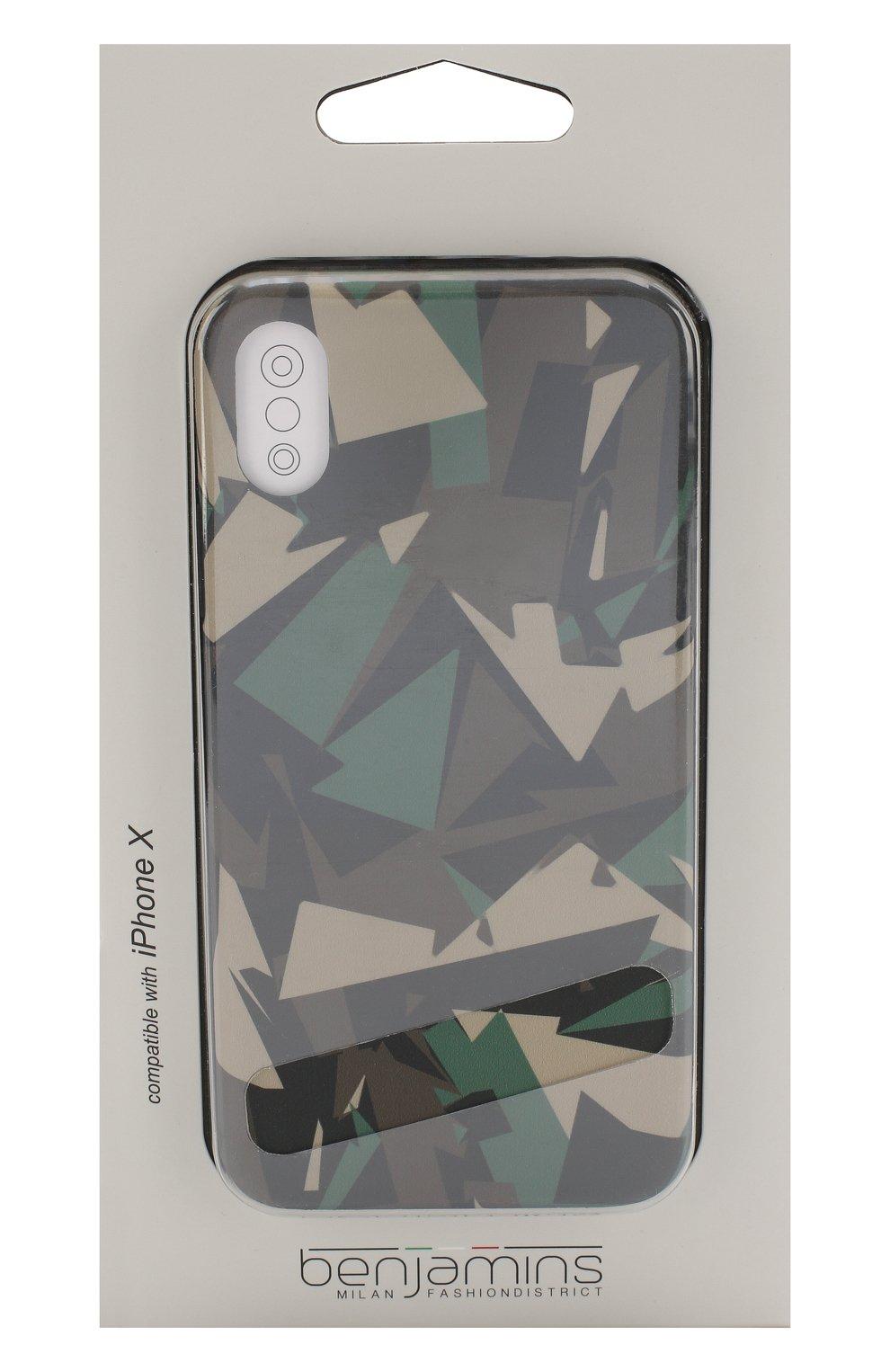 Мужской чехол для iphone x с принтом BENJAMINS разноцветного цвета, арт. BJX-GE0CAM0 | Фото 1