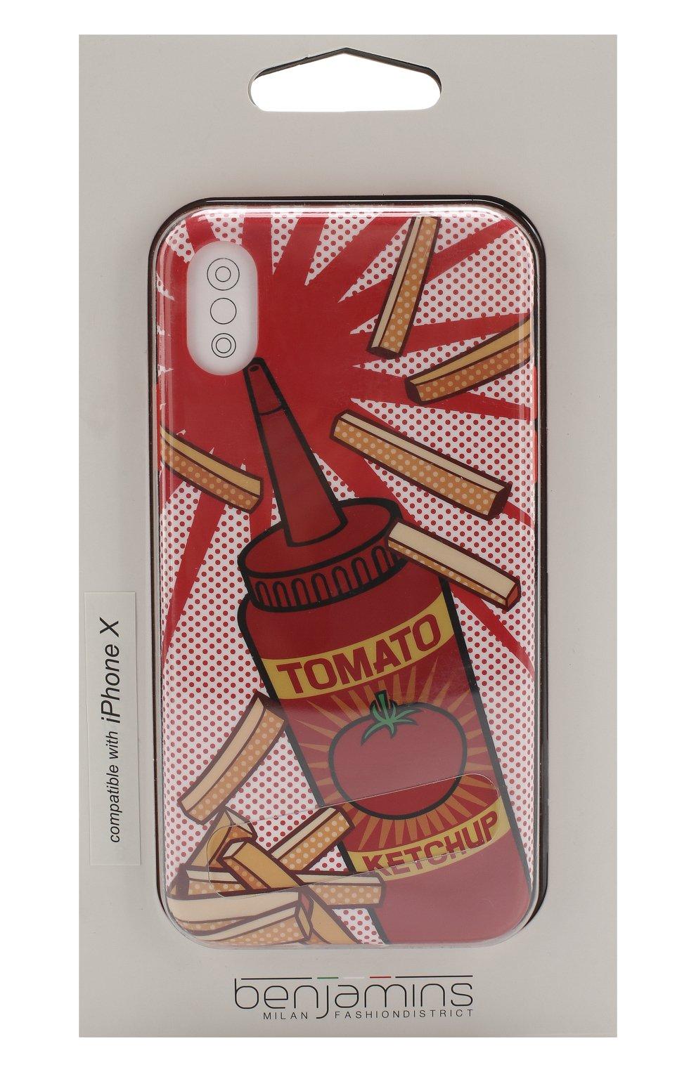 Мужской чехол для iphone x с принтом BENJAMINS красного цвета, арт. BJX-P0PCHUP | Фото 1