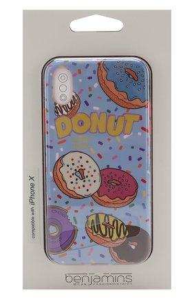Мужской чехол для iphone x с принтом BENJAMINS разноцветного цвета, арт. BJX-P0PNUT | Фото 1
