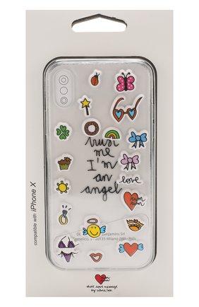 Мужской чехол для iphone x с аппликациями BENJAMINS разноцветного цвета, арт. STX-STKANGEL   Фото 1