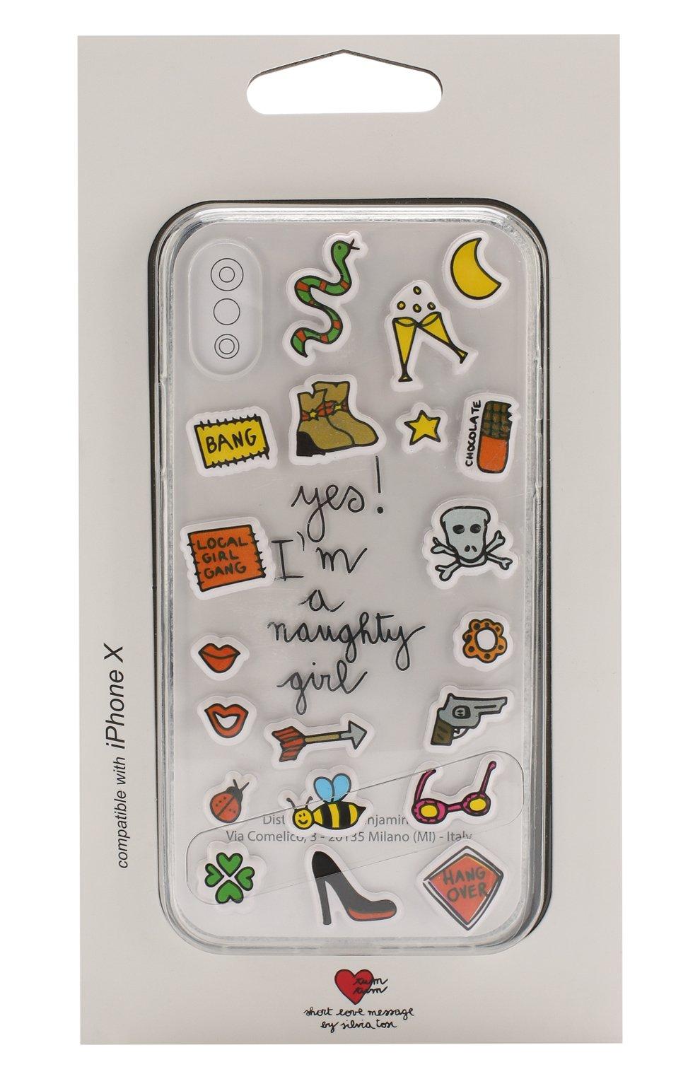 Мужской чехол для iphone x с аппликациями BENJAMINS разноцветного цвета, арт. STX-STKNAUGHTY | Фото 1