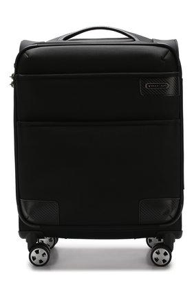 Женский дорожный чемодан uno soft deluxe RONCATO черного цвета, арт. 40467301 | Фото 1