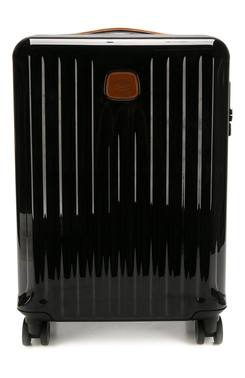 Женский дорожный чемодан capri  BRIC`S черного цвета, арт. BRK08027   Фото 1