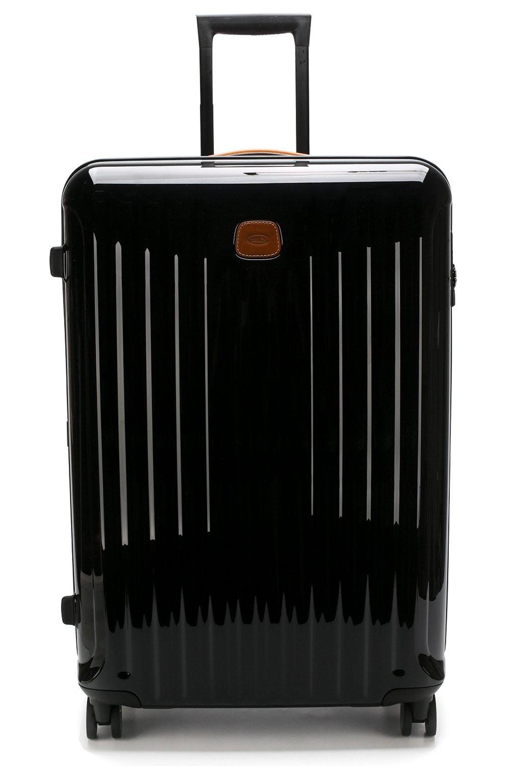 Женский дорожный чемодан capri  BRIC`S черного цвета, арт. BRK08032 | Фото 4