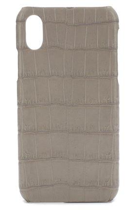 Чехол для iPhone X с отделкой из кожи крокодила | Фото №1