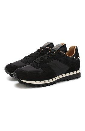 Комбинированные кроссовки Valentino Garavani Rockrunner   Фото №1