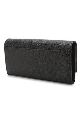 Женские кожаный кошелек DOLCE & GABBANA черного цвета, арт. BI0087/AZ503 | Фото 2