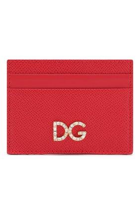 Женский кожаный футляр для кредитных карт DOLCE & GABBANA красного цвета, арт. BI0330/AZ503 | Фото 1