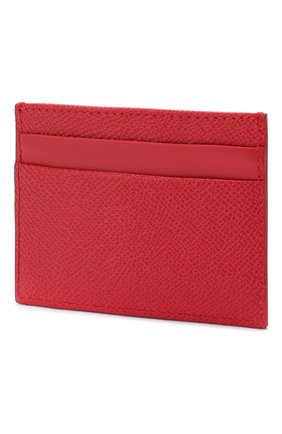 Женский кожаный футляр для кредитных карт DOLCE & GABBANA красного цвета, арт. BI0330/AZ503 | Фото 2