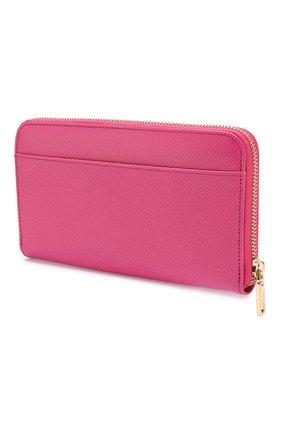 Женские кожаный кошелек DOLCE & GABBANA розового цвета, арт. BI0473/AZ503 | Фото 2