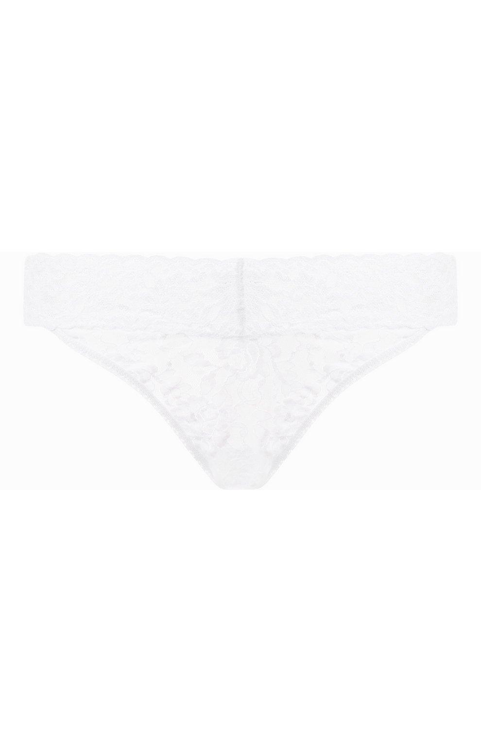 Женские кружевные трусы-стринги HANKY PANKY белого цвета, арт. 4811P_панки | Фото 1