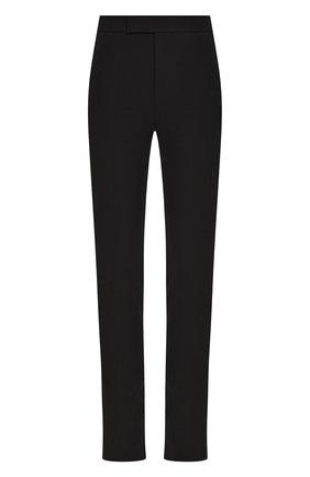 Женские хлопковые брюки HELMUT LANG черного цвета, арт. I09HW207 | Фото 1