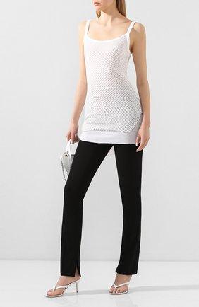 Женские хлопковые брюки HELMUT LANG черного цвета, арт. I09HW207 | Фото 2