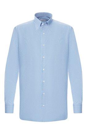 Мужская хлопковая сорочка с воротником кент ZILLI голубого цвета, арт. MFR-83100-MERCU/RZ01 | Фото 1