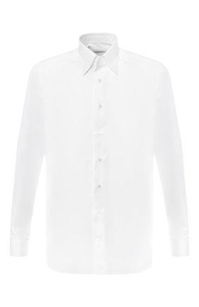 Мужская хлопковая сорочка с воротником кент ZILLI белого цвета, арт. MFR-10715-MERCU/RZ01 | Фото 1