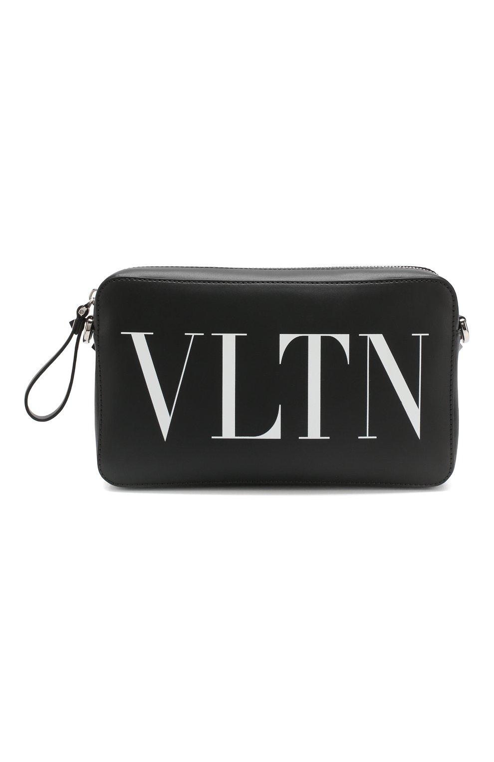 ebf97b1b4fbf Мужская черная кожаная сумка valentino garavani vltn VALENTINO ...