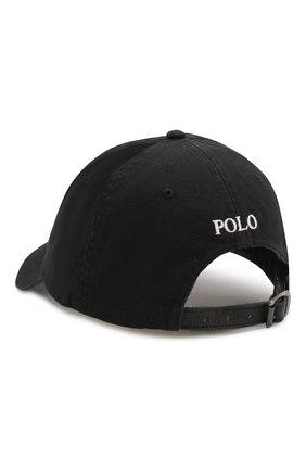 Мужской хлопковая бейсболка  POLO RALPH LAUREN черного цвета, арт. 710673584 | Фото 2