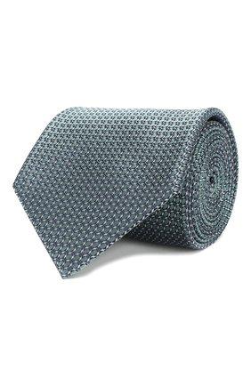 Мужской шелковый галстук BRIONI зеленого цвета, арт. 062I00/P8459 | Фото 1