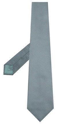 Мужской шелковый галстук BRIONI зеленого цвета, арт. 062I00/P8459 | Фото 2