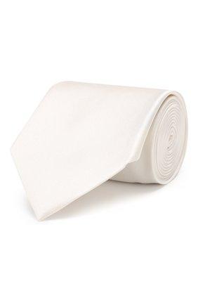 Мужской шелковый галстук BRIONI белого цвета, арт. 062I00/P446Z | Фото 1