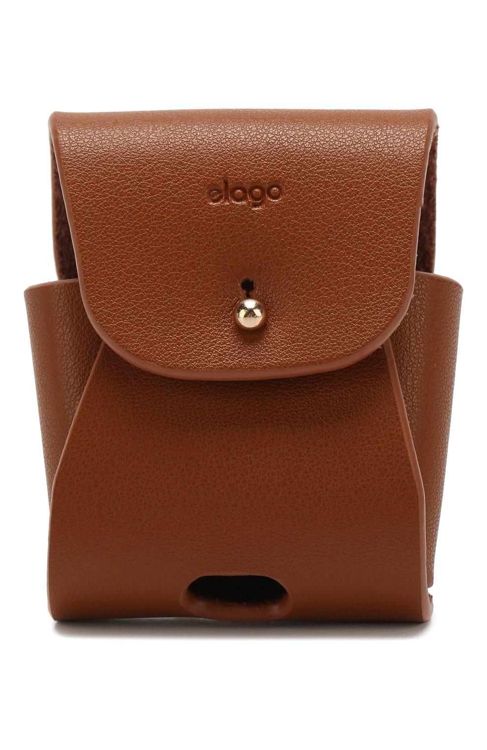 Чехол для airpods ELAGO коричневого цвета, арт. EAPLE-BR   Фото 1 (Статус проверки: Проверена категория)