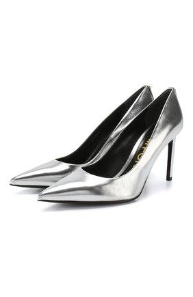 Туфли из металлизированной кожи | Фото №1