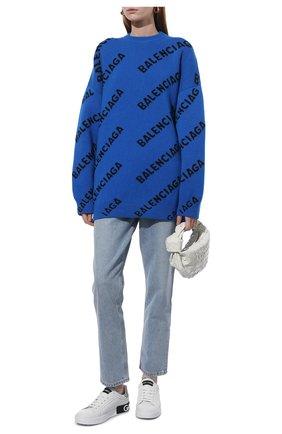 Женские кожаные кеды portofino DOLCE & GABBANA белого цвета, арт. CK1587/AH527 | Фото 2 (Подошва: Платформа; Статус проверки: Проверено, Проверена категория; Материал внутренний: Натуральная кожа)
