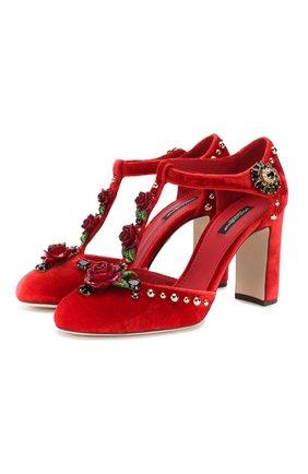 Бархатные туфли Vally | Фото №1