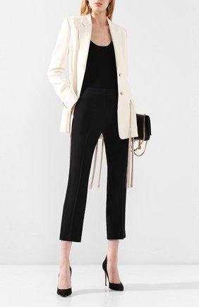 Женские брюки со стрелками ALEXANDER MCQUEEN черного цвета, арт. 536679/QME40 | Фото 2