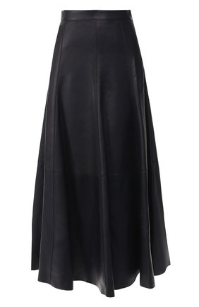 Кожаная юбка-миди | Фото №1