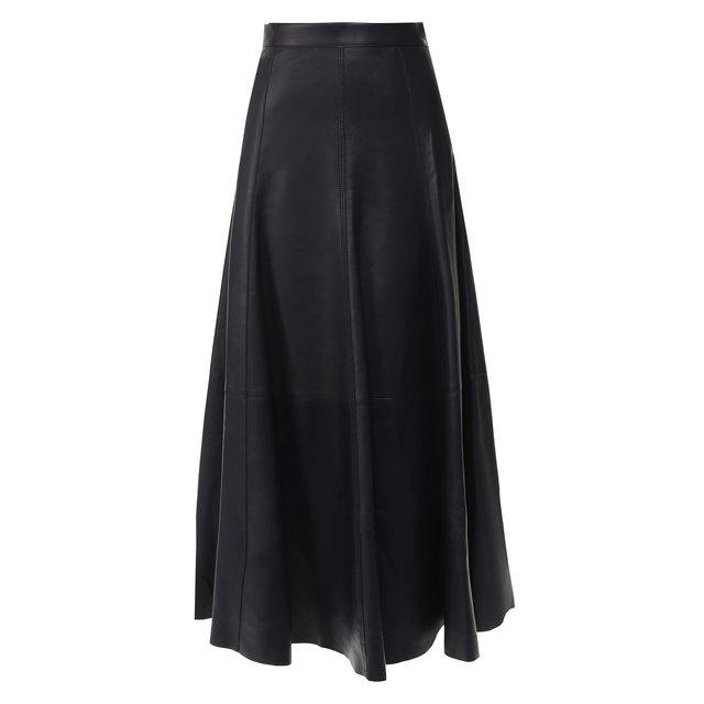 Кожаная юбка-миди Ralph Lauren