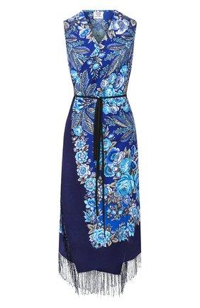 Шерстяное платье с принтом | Фото №1