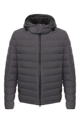 Мужская пуховая куртка с капюшоном BRIONI серого цвета, арт. SUMQ0L/P8803 | Фото 1