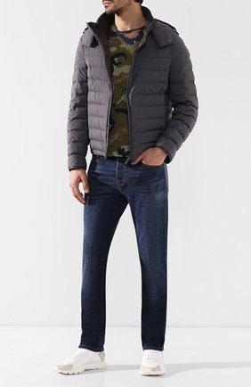 Мужская пуховая куртка с капюшоном BRIONI серого цвета, арт. SUMQ0L/P8803 | Фото 2