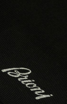Мужские хлопковые гольфы BRIONI черного цвета, арт. 0VML00/07Z07 | Фото 2 (Материал внешний: Хлопок; Статус проверки: Проверено; Кросс-КТ: бельё)