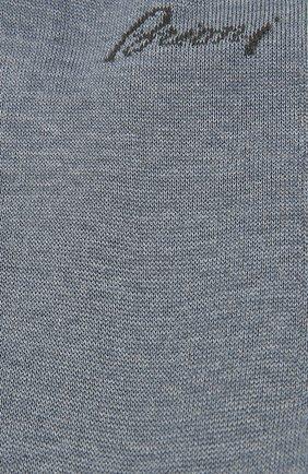 Мужские хлопковые носки BRIONI синего цвета, арт. 0VMC00/07Z07 | Фото 2 (Материал внешний: Хлопок; Статус проверки: Проверено; Кросс-КТ: бельё)